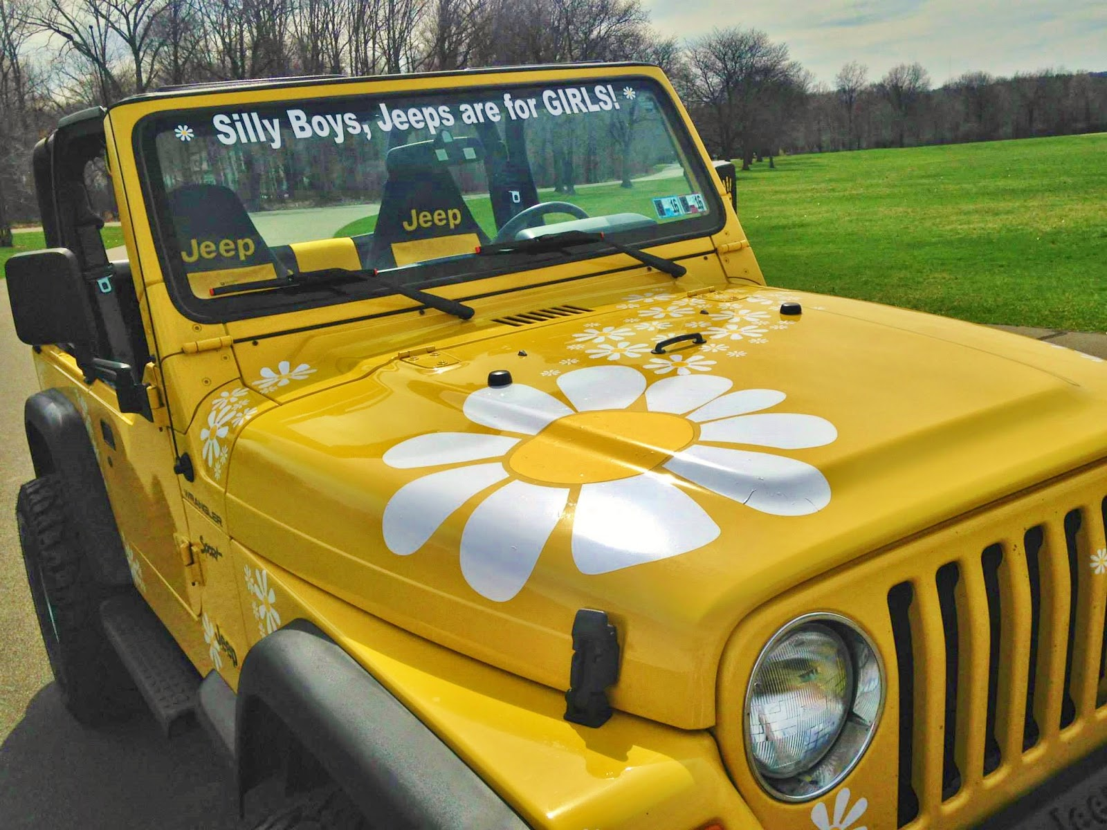 Flower Power Car Decal Stickers By Hippy Motors