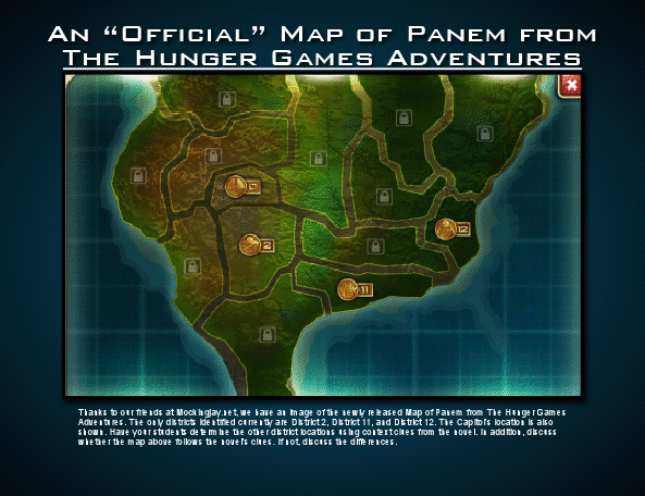 A New Map of Panem Released for The Hunger Games - Classroom ...