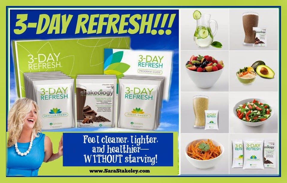 3 Day Refresh, challenge, Challenge group, Sara Stakeley, Sarastakeley.com, Clean eating, lose weight, lose inches, PCOS ,