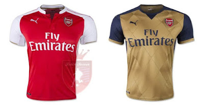Jersey Arsenal Home, Away 2015-2016