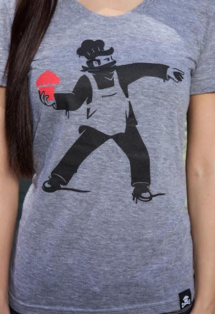 """Johnny Cupcakes x Banksy """"Bakesy"""" T-Shirt"""