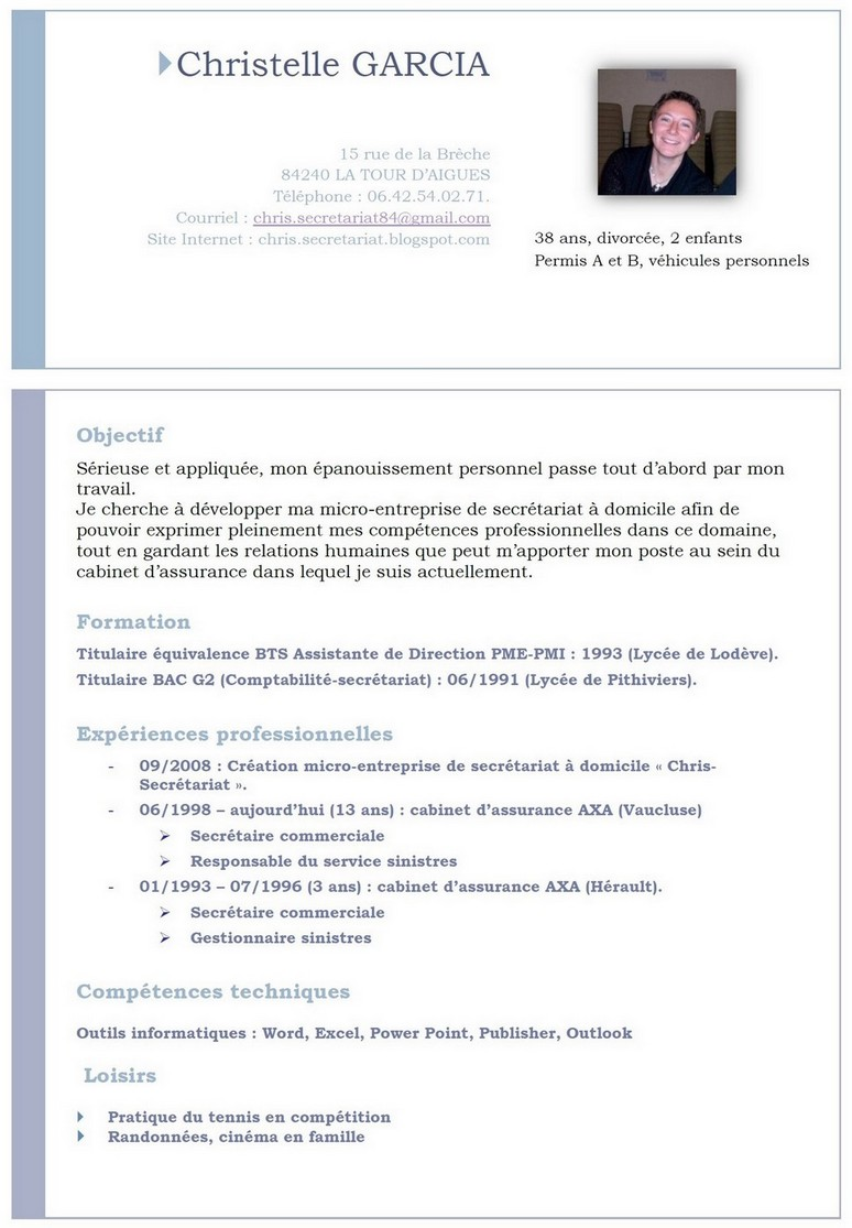 chris secretariat  cv