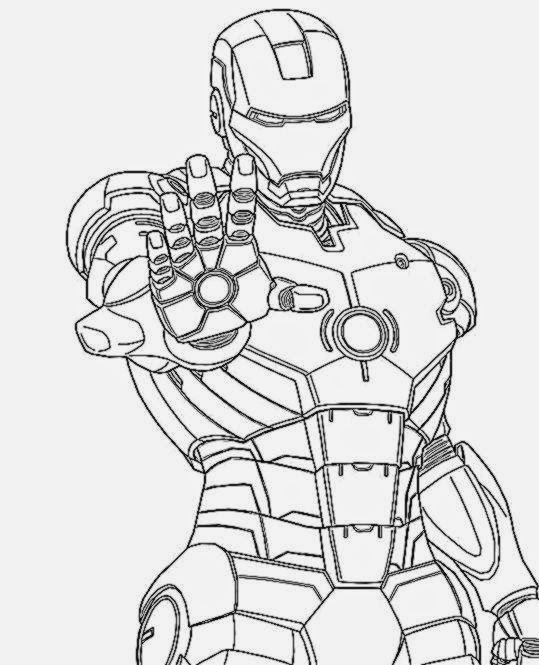 Captain America Coloring Pages With Iron Man