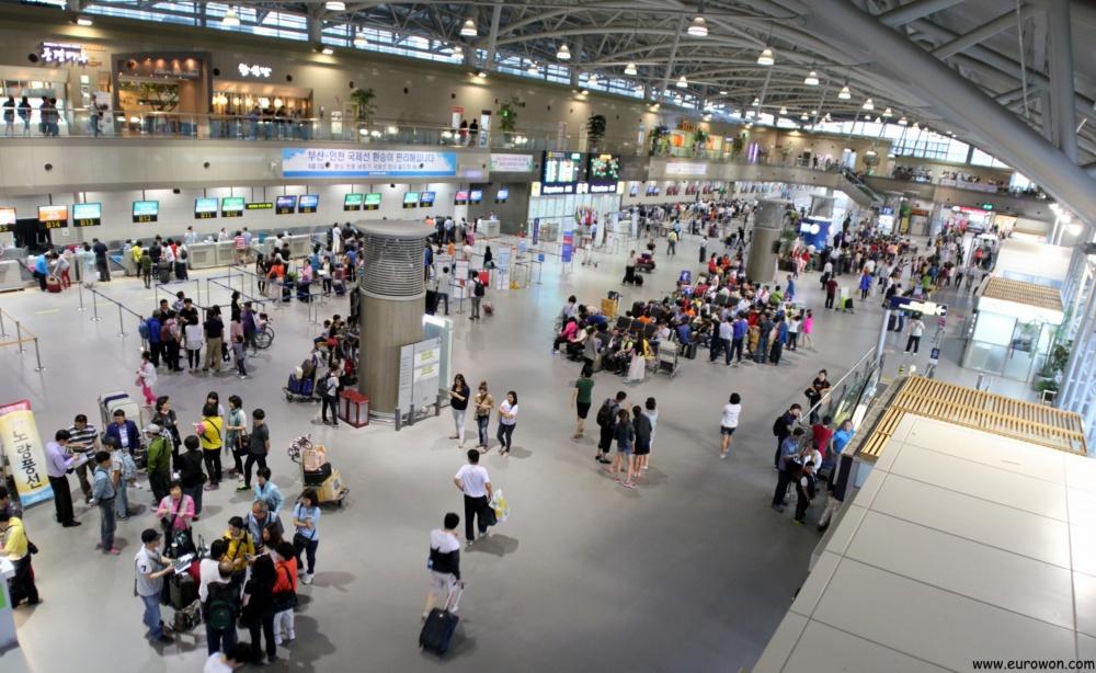 Vista general del Aeropuerto Internacional de Gimhae en Busan