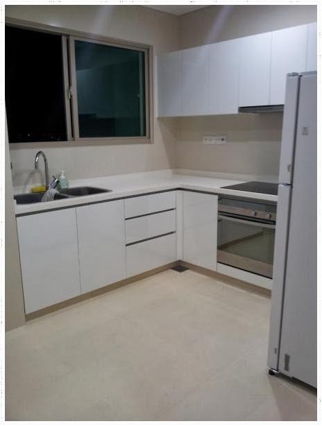 kitchen room in the vista condo