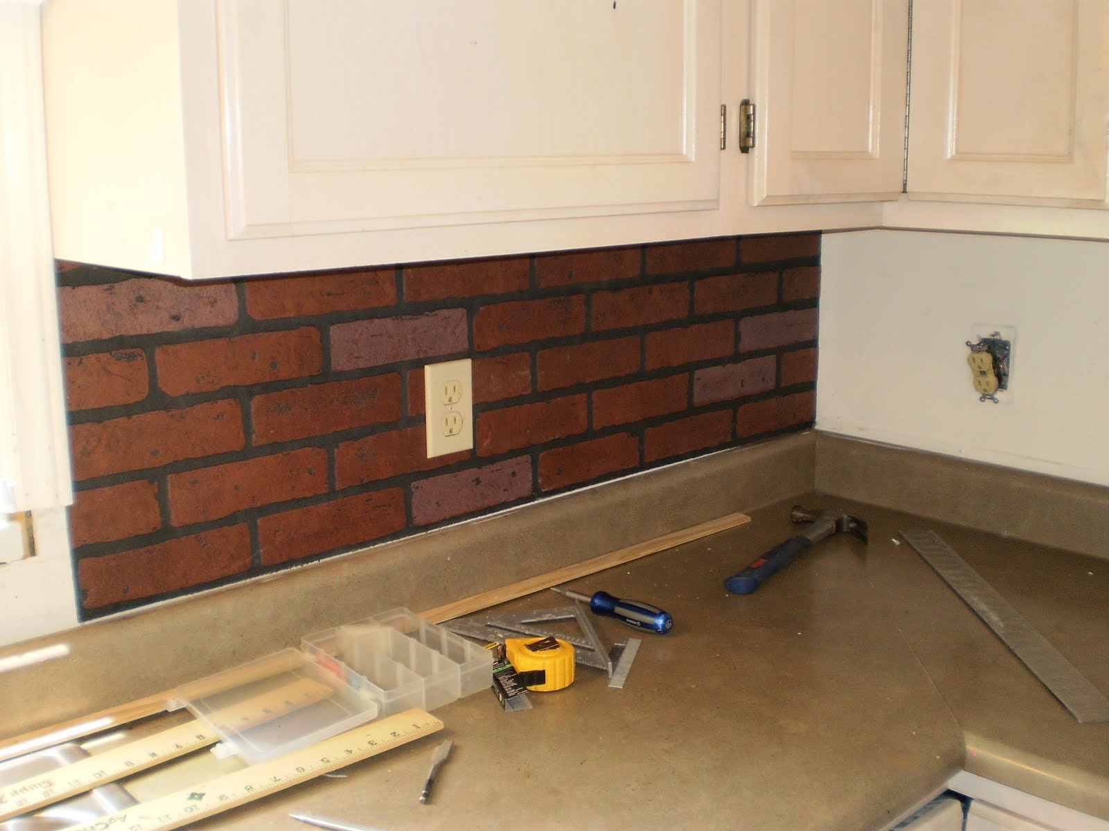 brick kitchen backsplash viewing gallery