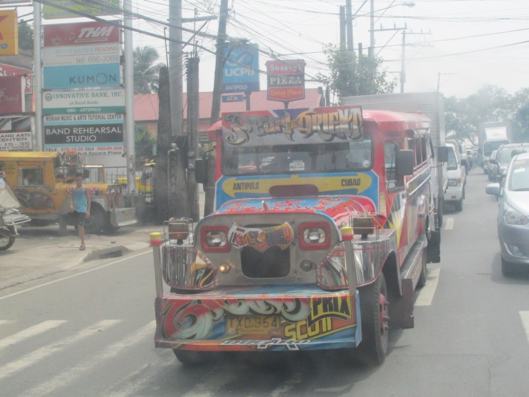 Jeepney, Manila (love how they are all decorated so colourfully!)