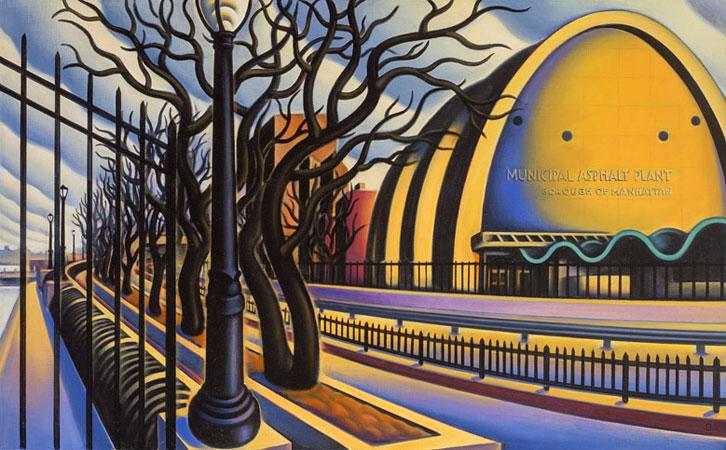 Doctor Ojiplático. Anne Bascove. Bridges & Cityscapes. Oil Painting