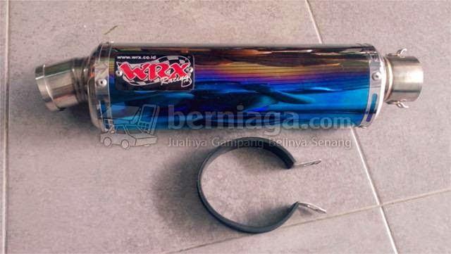 silencer wrx oval half blue copotan satria fu