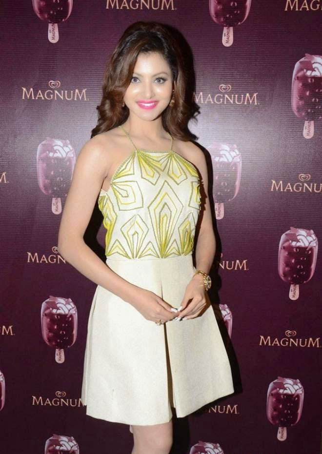 urvashi rautela magnum ice cream launch photos