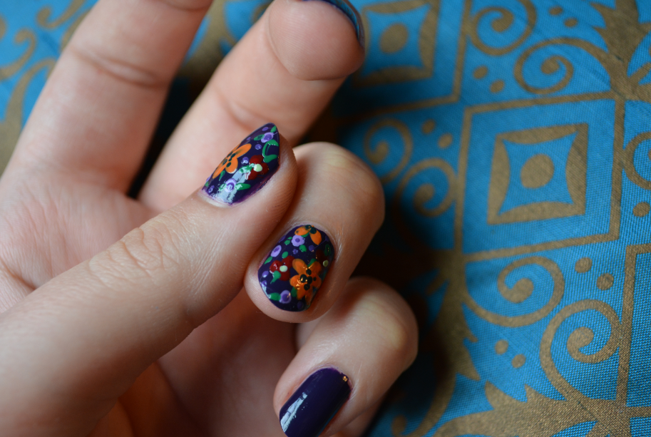 The Closet Historian: Fall Florals Manicure