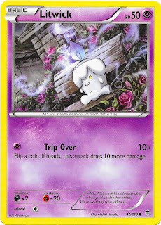 Litwick Phantom Forces Pokemon Card