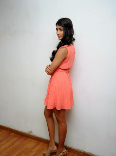 Actress Pooja Hegde Pictures in Short Dress at Oka Laila Kosam Prerelease Press Meet  101