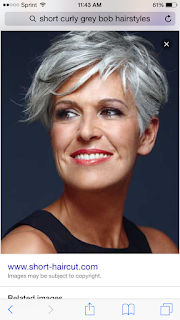 short grey bob hairstyle