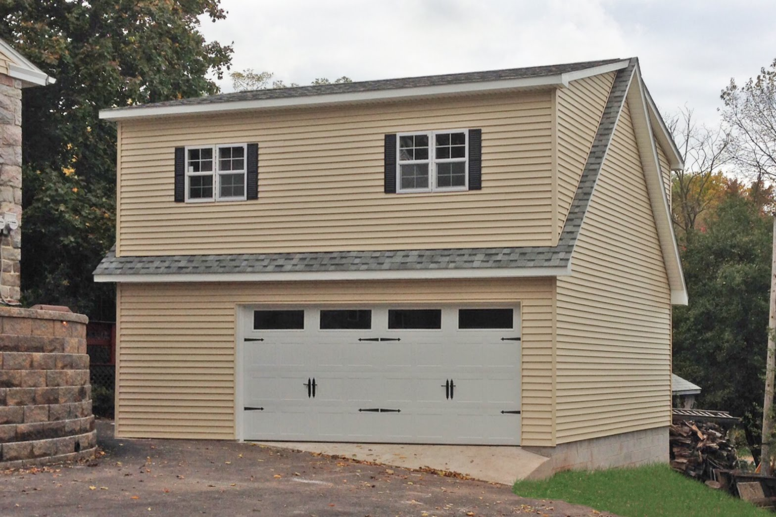 Three car garages in maryland and north carolina for Two story car garage