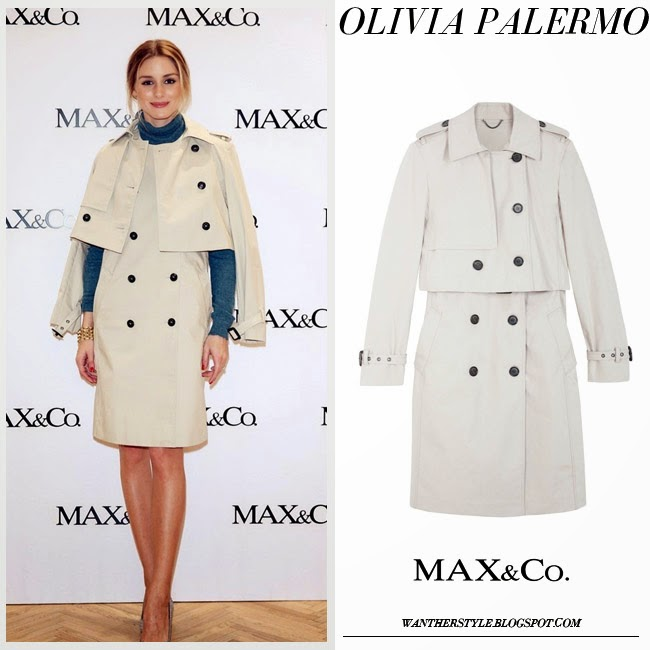 Olivia Palermo in beige trench coat max and co and pumps francesco russo want her style fashion inspiration march 2015