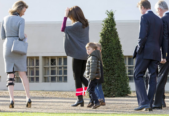 Crown Prince Frederik of Denmark, Crown Princess Mary of Denmark, with, Princess Josephine, and Prince Vincent, King Harald of Norway, King Carl Gustaf of Sweden, Henri Grand Duke of Luxembourg, King Willem Alexander of the Netherlands, Queen Maxima of the Netherlands, King Phillipe of Belgium, Queen Mathilde of Belgium, Princess Marie of Denmark