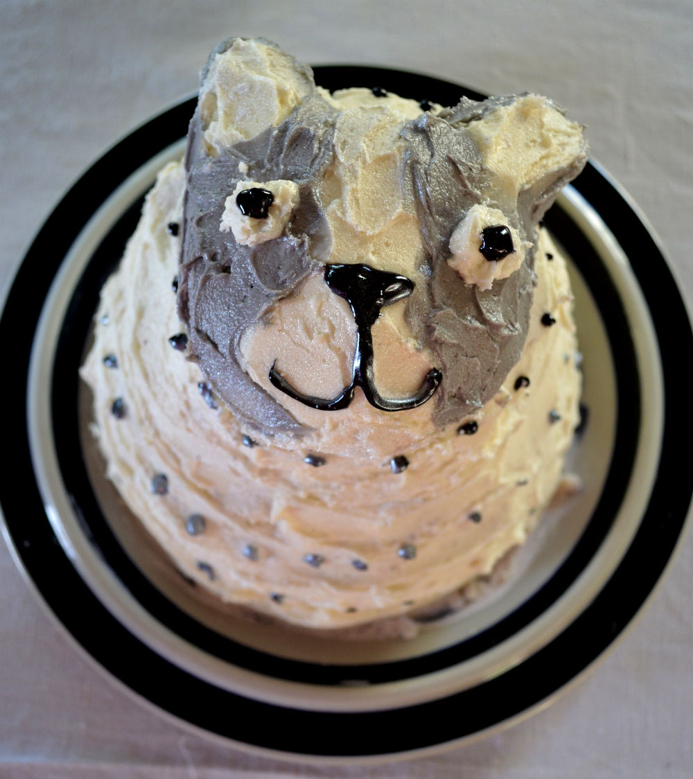 Marvelously Messy Boston Terrier Birthday Cake
