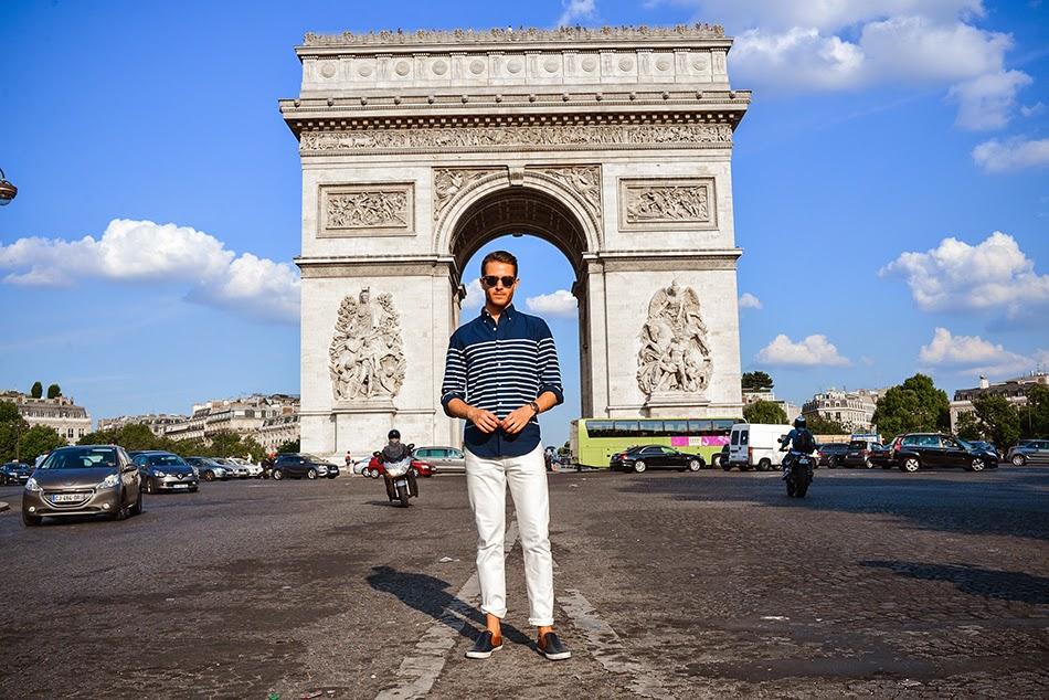 Souvenirs of France Blu Monuments Baseball Parigi Bianco