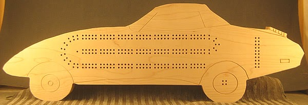 Splinters Woodworks Custom 1974 Corvette Cribbage Board
