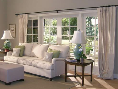 Home window design 2011 window treatments for large for Drapes for large windows