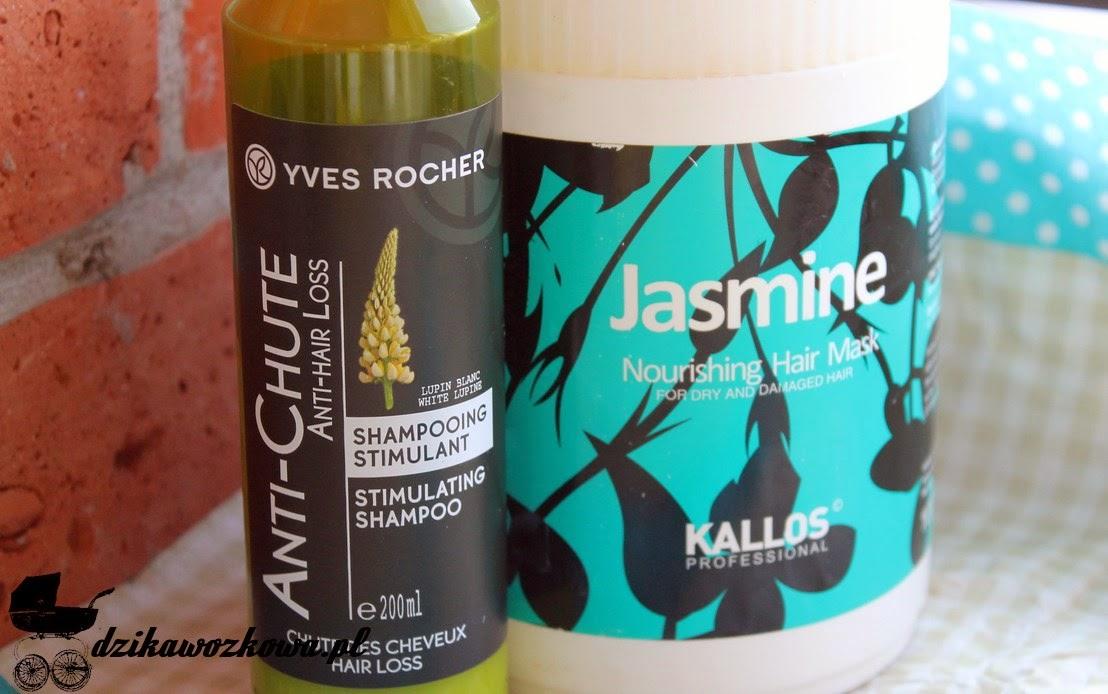 Yves rocher, szampon stymulujacy przeciwko wypadaniu włosów, Kallos maska jaśmin