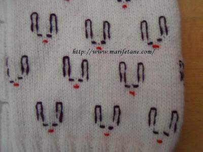 tavşan desenli örgü bebek yeleği