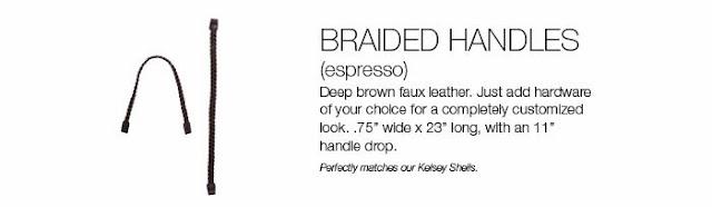 Miche Espresso Brown Braided Handles from MyStylePurses.com