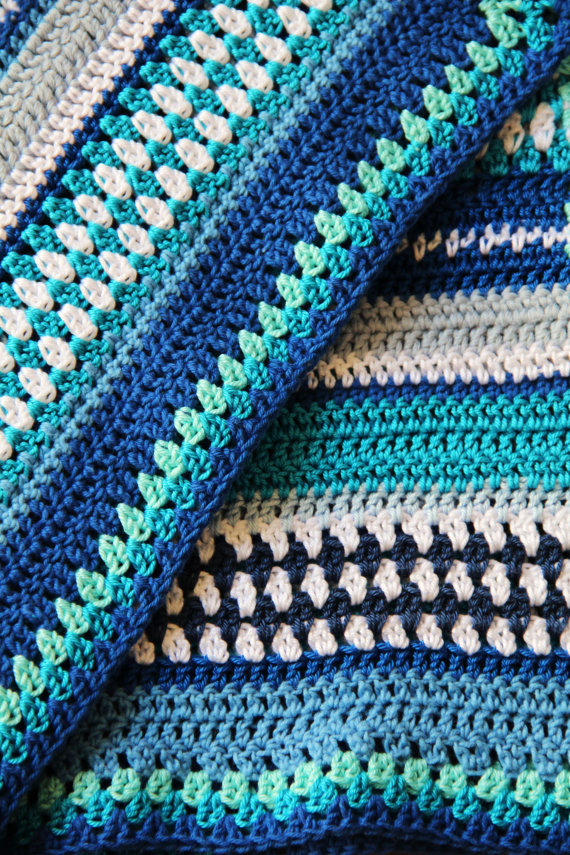 Lovely crochet baby blanket patterns in the Etsy-shop of CreJJtion ...