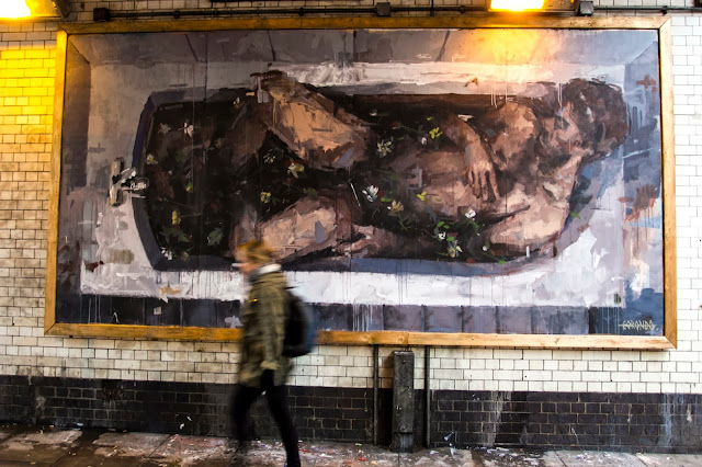 """Adam & Eva"" New Street Art Pieces By Spanish Artist Borondo On Old Street, East London. 3"