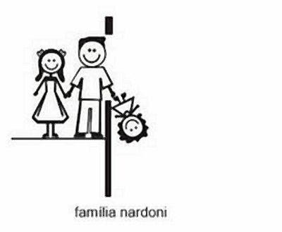 Adesivo de Família modelo Nardoni