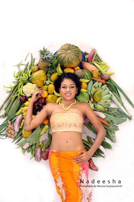 sri lankan model vegetables shoot