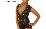STUDDED VEST IN GOLD