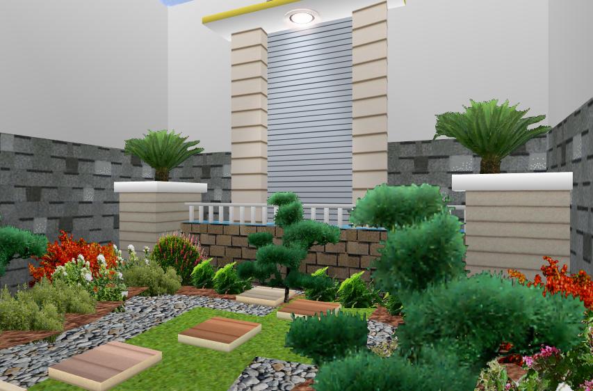 20 gambar desain taman rumah minimalis terbaru 2017 1001