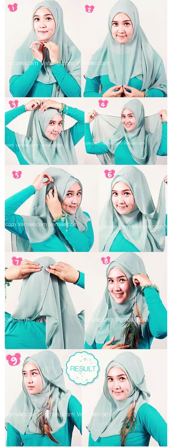 Tutorial Hijab Segi Empat Terbaru Gaya Masa Kini Terbaru