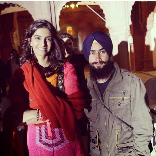 Sonam Kapoor on the sets of Khubsoorat