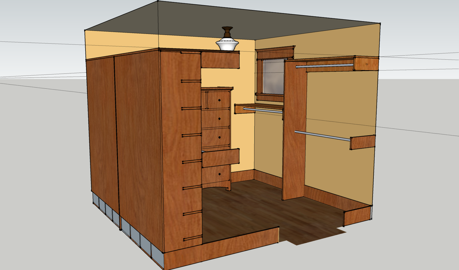 The Plan For Jeff's Closet Is Nearly Complete. It Should Get Finished . Full resolution  photo, nominally Width 1600 Height 942 pixels, photo with #B77C14.