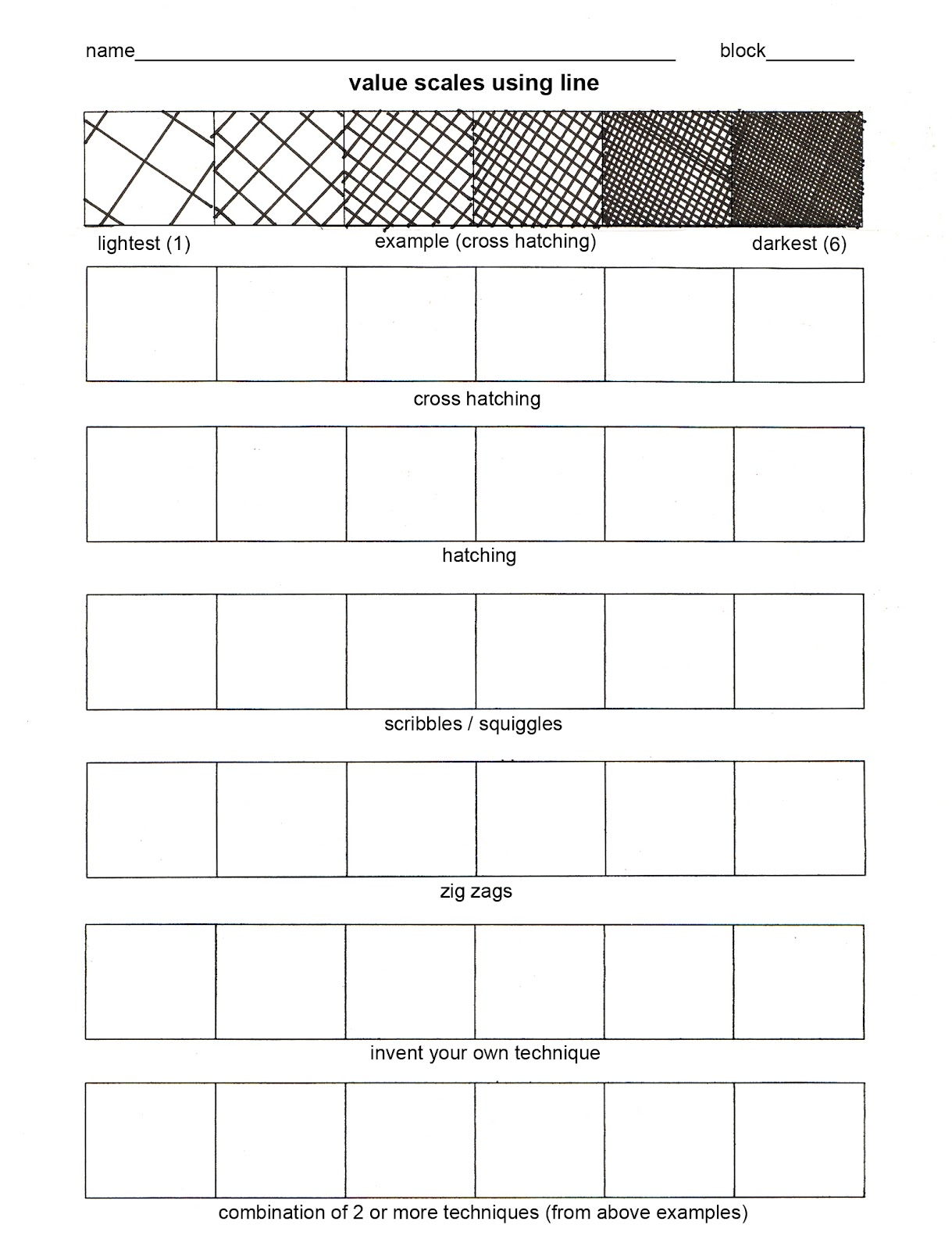 value+worksheet+1.jpg (1219×1600) | 2D Art Lessons | Pinterest