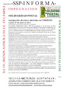 17/06/2011-SSP IMPUGNA ELECCIONES SINDICALES 2011
