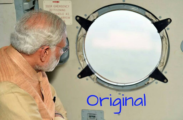 Press Information Bureau (PIB) deleted a doctored image of PM Modi making an aerial survey of flooded Chennai, which it had tweeted on Thursday.  The morphed image showed Modi looking at submerged streets of Chennai from the window of chopper.   After the picture was exposed as fake, it started trending on  social media, prompting  PIB to press the delete button but without offering any explanation.