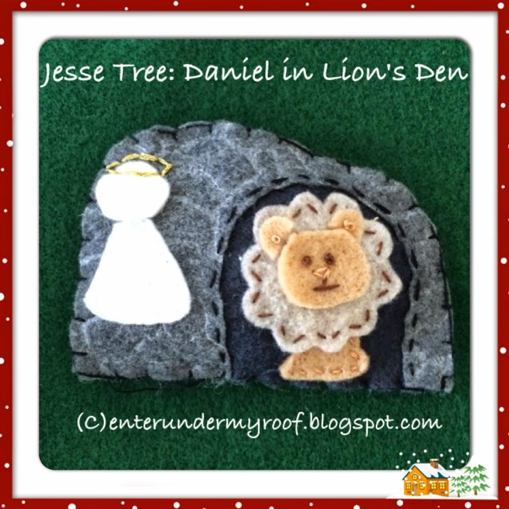 Jesse Tree Advent Project Calendar Daniel Lion's Den
