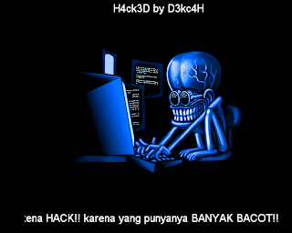 blog yang kena hack