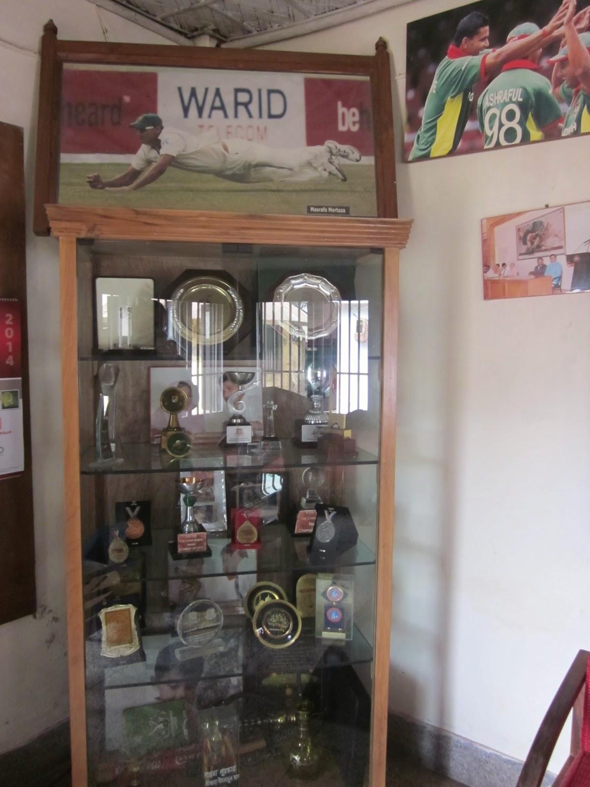 The Trophy Cabinet At Mashrafes House