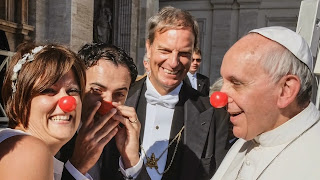 Pope with red nose