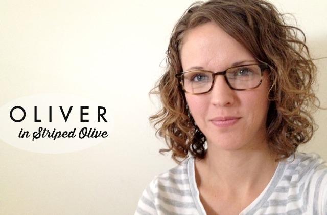 Warby Parker Prescription Glasses // oliver in striped olive