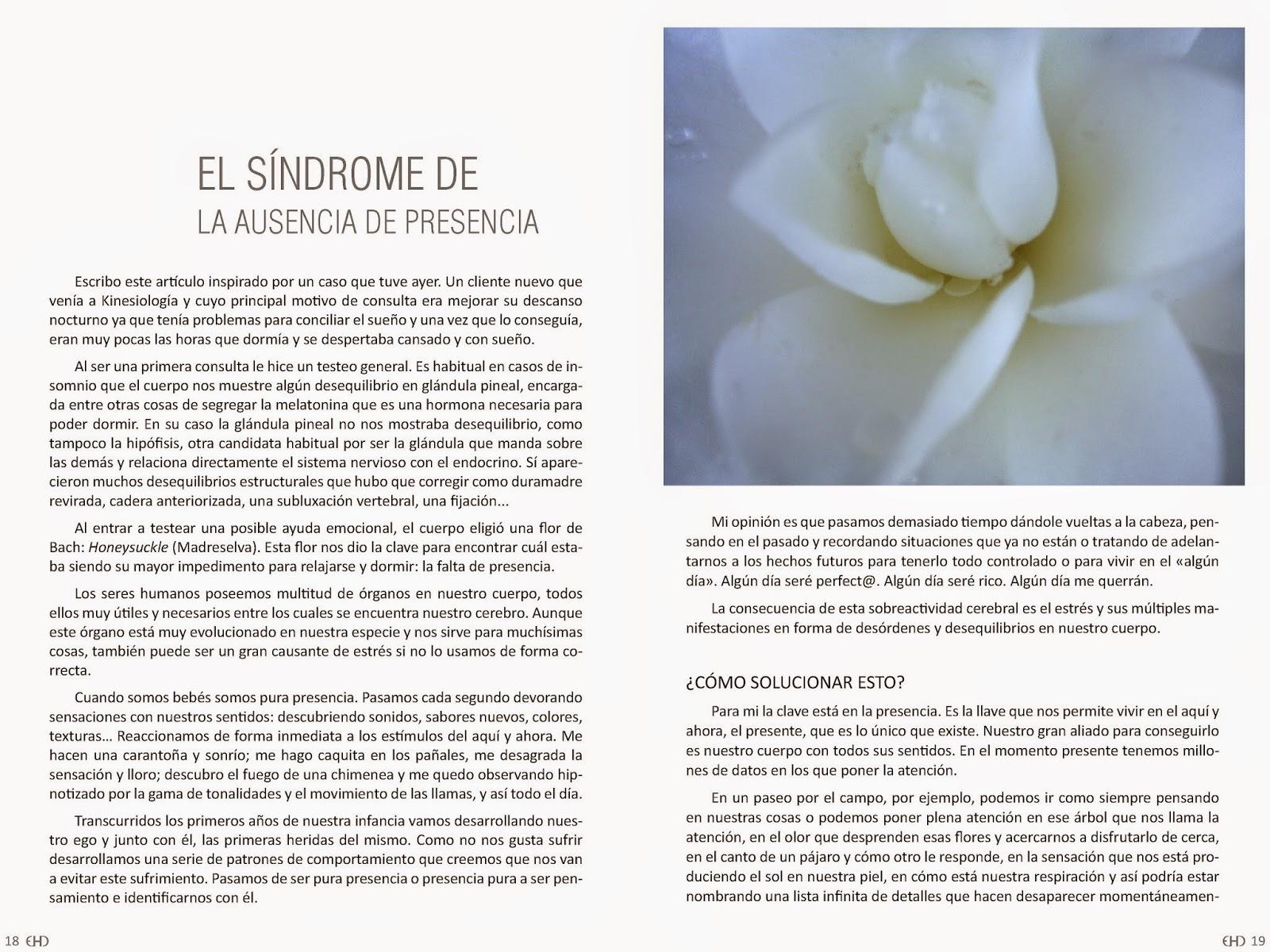 falta de presencia, ausencia de presencia, artículo Guy Gómez, artículo EHD magazine, Guy Gómez kinesiólogo Madrid,