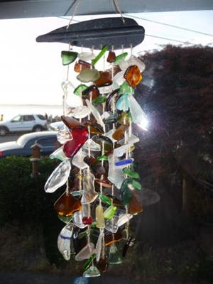 how to make sea glass mobiles