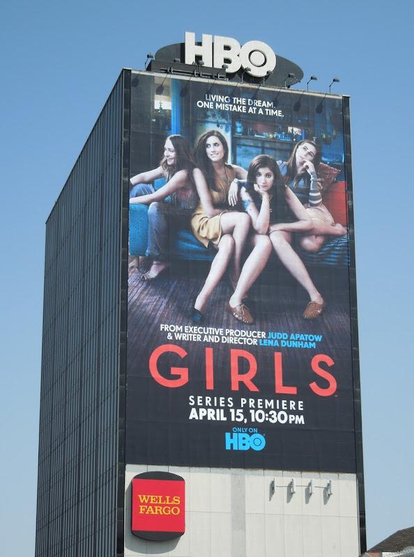 Girls HBO billboard