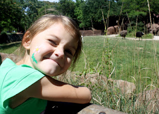Tessa's must-see animal was the giraffe this time. She was disappointed there were only two this day.