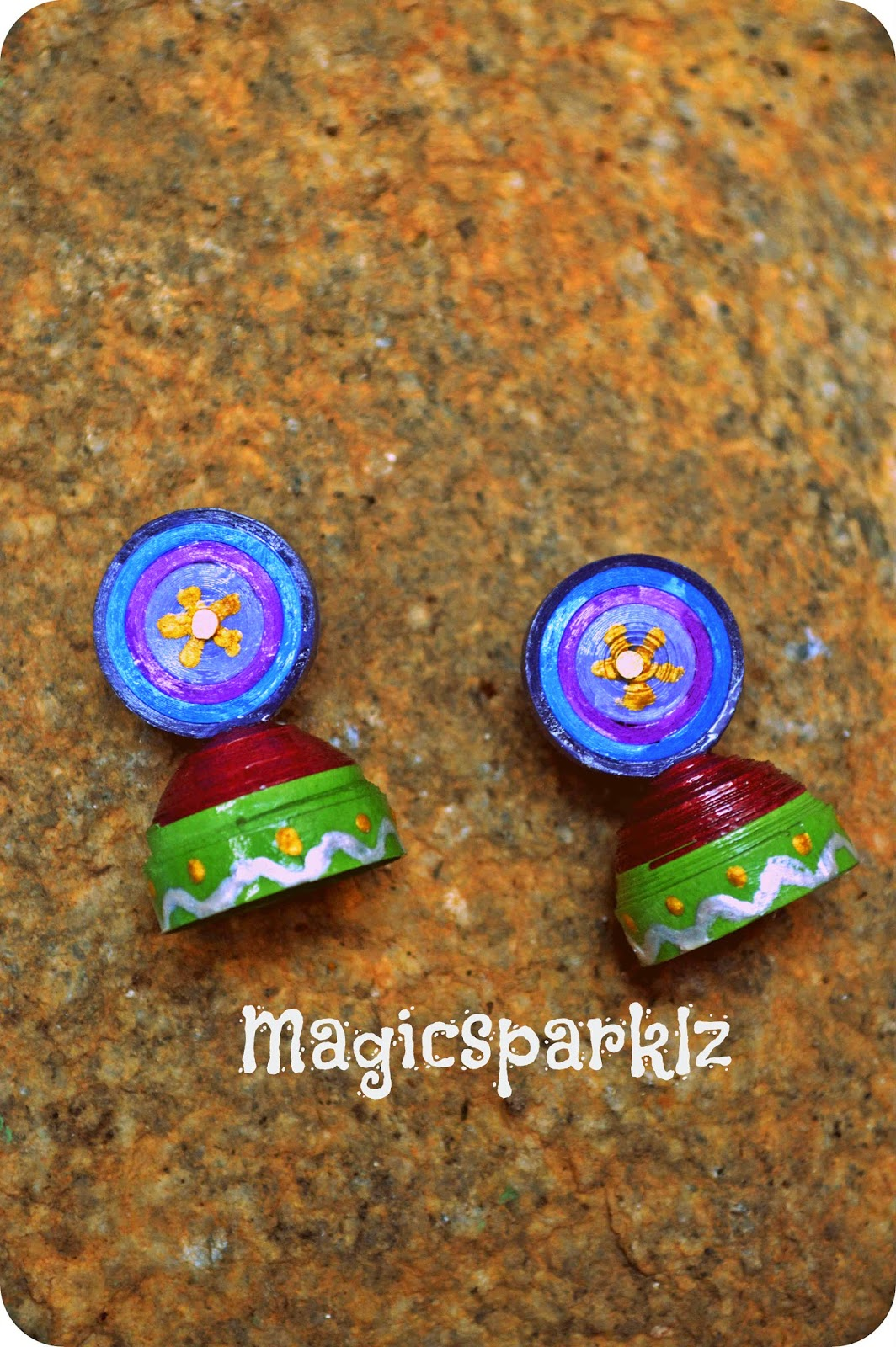 Quilled jhumka ethnic look